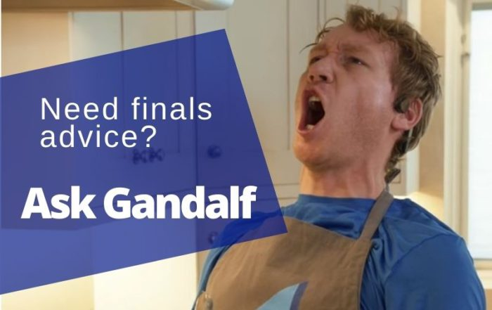 law school finals week ask gandalf