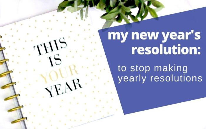new year's resolutions monthly resolutions